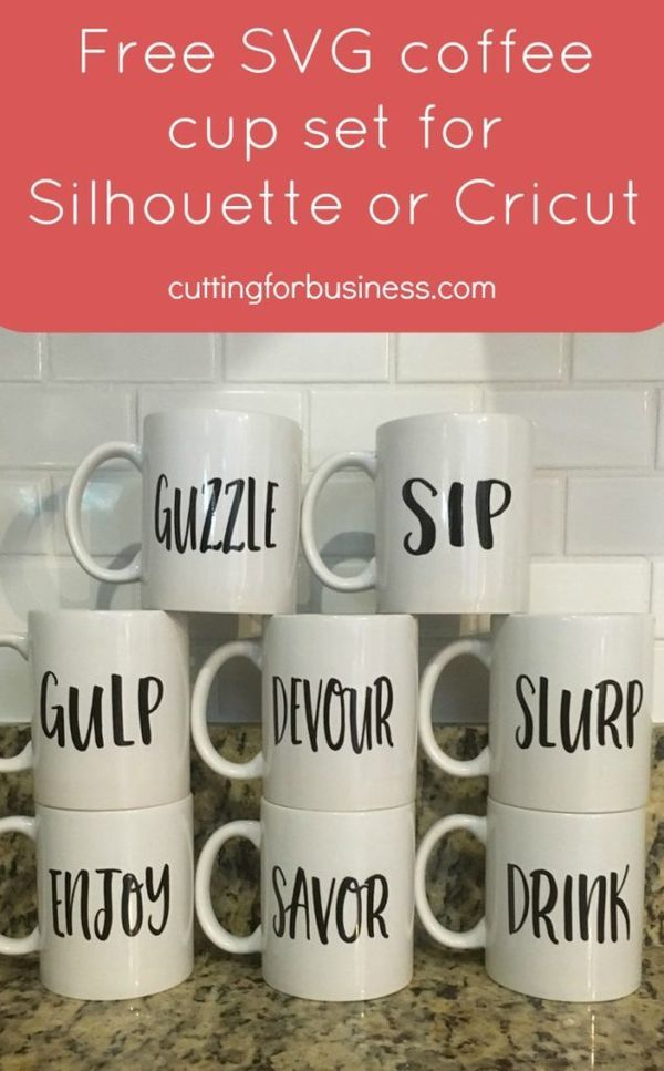 b861ff7d748 Free Coffee Mug Set SVG for Silhouette Cameo, Cricut, or Sublimation -  cuttingforbusiness.com