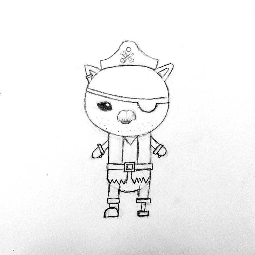 calico jack kwazii u0027s grandad octonauts fan art pinterest