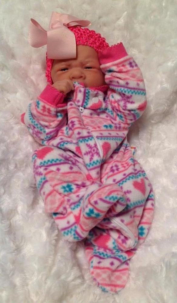 WINTER TIME! BABY GIRL REBORN PREEMIE BERENGUER DOLL W PACIFIER/BOTTLE EXTRAS #BERENGUER