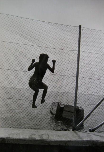 SERGEI BORISOV (*1947)  ON THE SHORE, 1983 VERSO: SIGNED, TITLED AND DATED VINTAGE GELATIN-SILVER PRINT ON KODAK PAPER 40,5 X 30,5CM  LITERATURE: SERGEI BORISOV PHOTOGRAPHIES, EDITION LEV TOLSTOI PRINTING, TULA, RUSSIA, 1993
