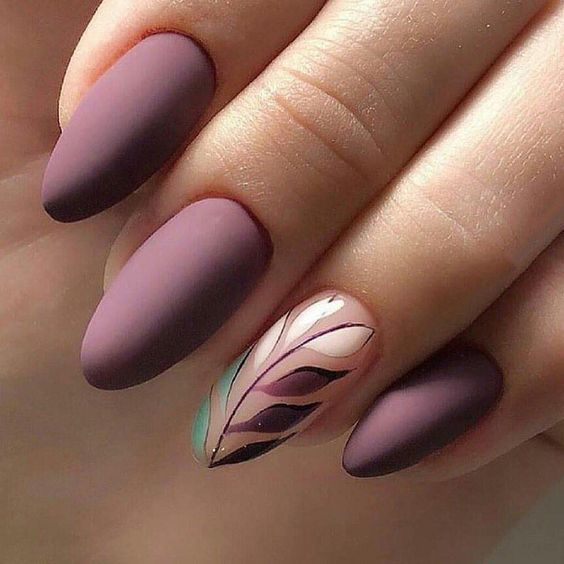 49 Trendy Almond Matte Nail Designs You'll Love #mattenails