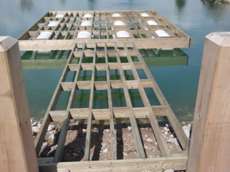 This is a dock for Coopers Pond Floating Docks in 2018 Pond