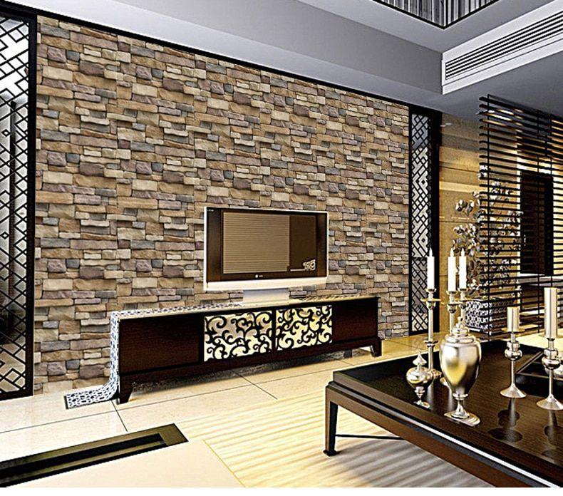 Waterproof Stone Brick Wall Sticker Self Adhesive Wallpaper Home