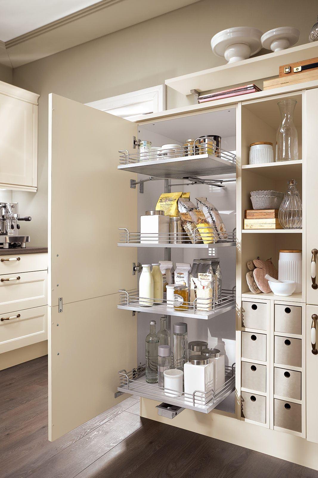 Vorratsschrank küche weiß  vorratsschrank einbauküche creme norina 7365 | Küchen | Pinterest ...
