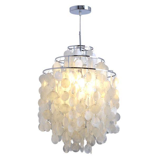 Ceiling Lights Modern Chandelier White Shell Pendant Lamp W 105