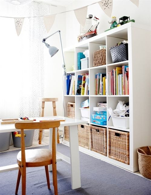 Ikea bookshelves If that white console makes it into the landing