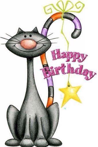 Iiiii Happy Birthday Verjaardagsfoto S Kaart Ideeen Verjaardag Verjaardag Katten