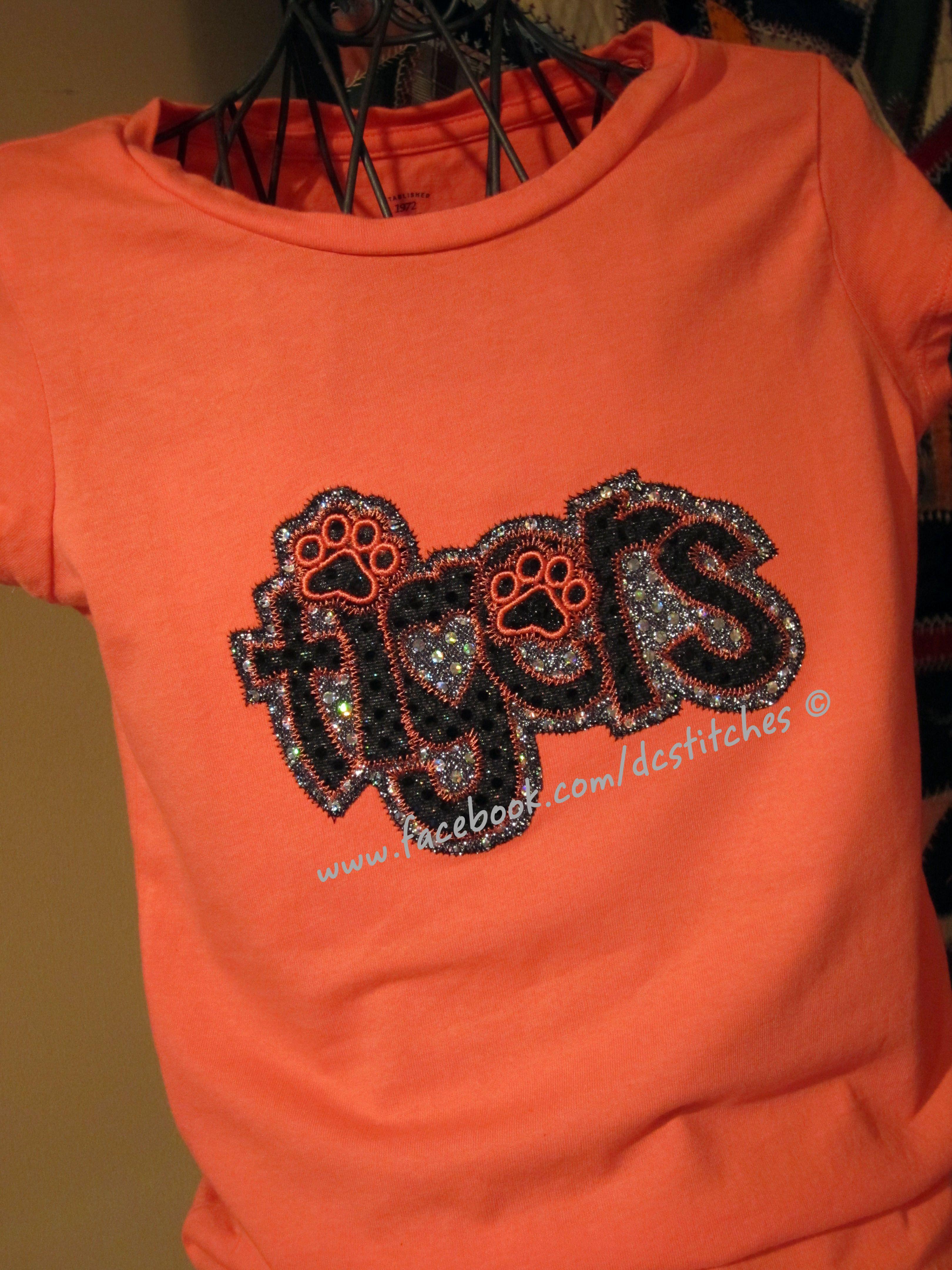 5db8e5508f79 Tigers mascot shirts in school colors $23 | SCHOOL SPIRIT/GRADUATION ...
