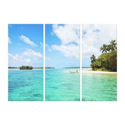 Tropical Paradise 3 Panel Canvas Print Zazzle Com