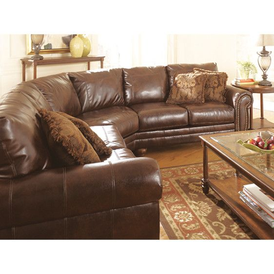 Ashley Furniture Clearance | ... By Ashley Furniture Antique 2130055/56  Sectional |