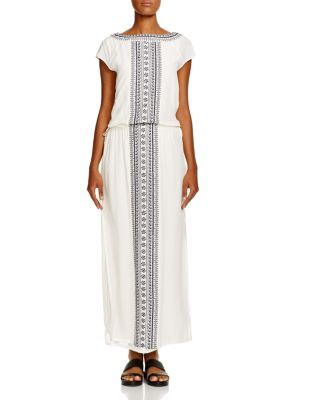 Tory Burch Embroidered Long Caftan Swim Cover Up | Bloomingdale's
