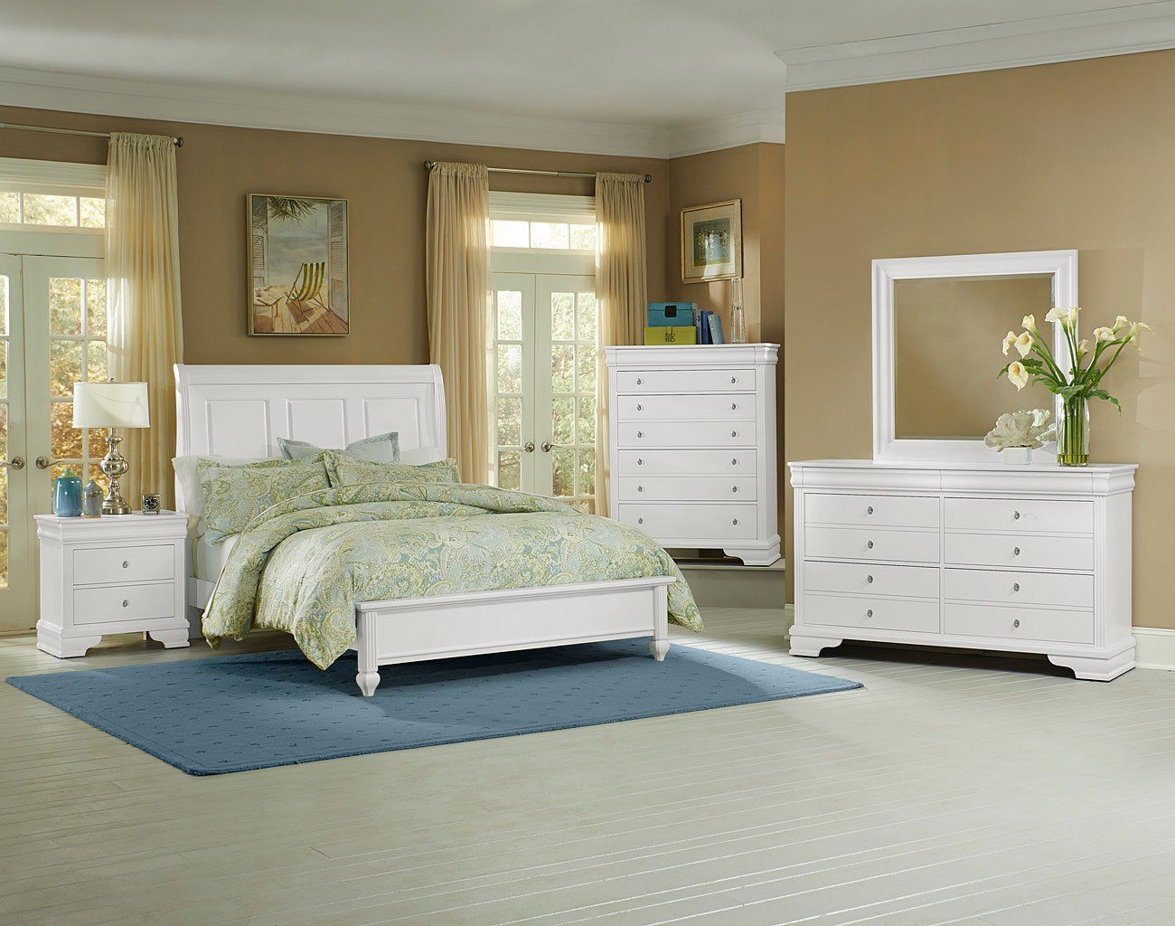 Best French Market Low Profile Bedroom Set White Bedroom 400 x 300