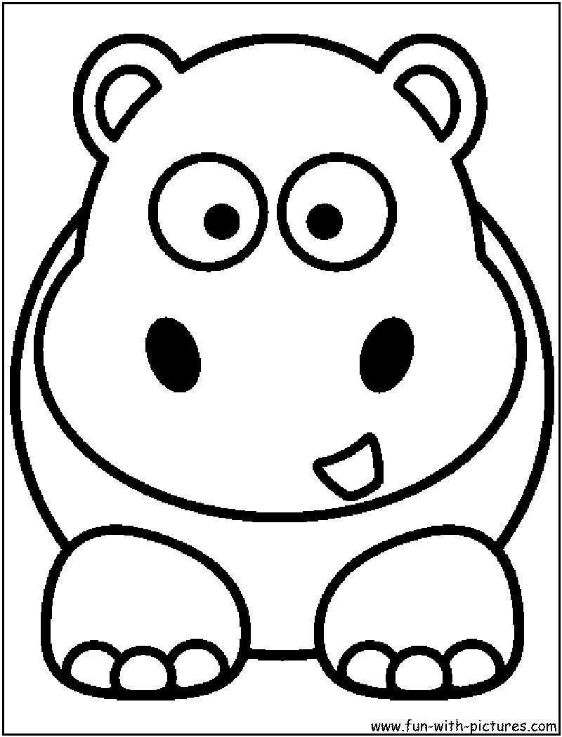 sew a hippo for Sarah\'s baby | Aplic animals | Pinterest | Ausmalen