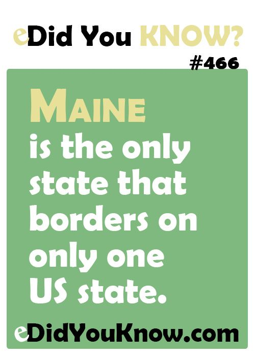 Facts About Maine That are Too Interesting to Ignore