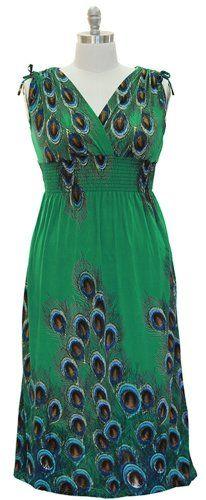 PLUS SIZE EXOTIC TAHITI MULTICOLOR BORDER PRINT MAXI DRESSES - Listing price: $54.99 Now: $16.49  #DressforLess