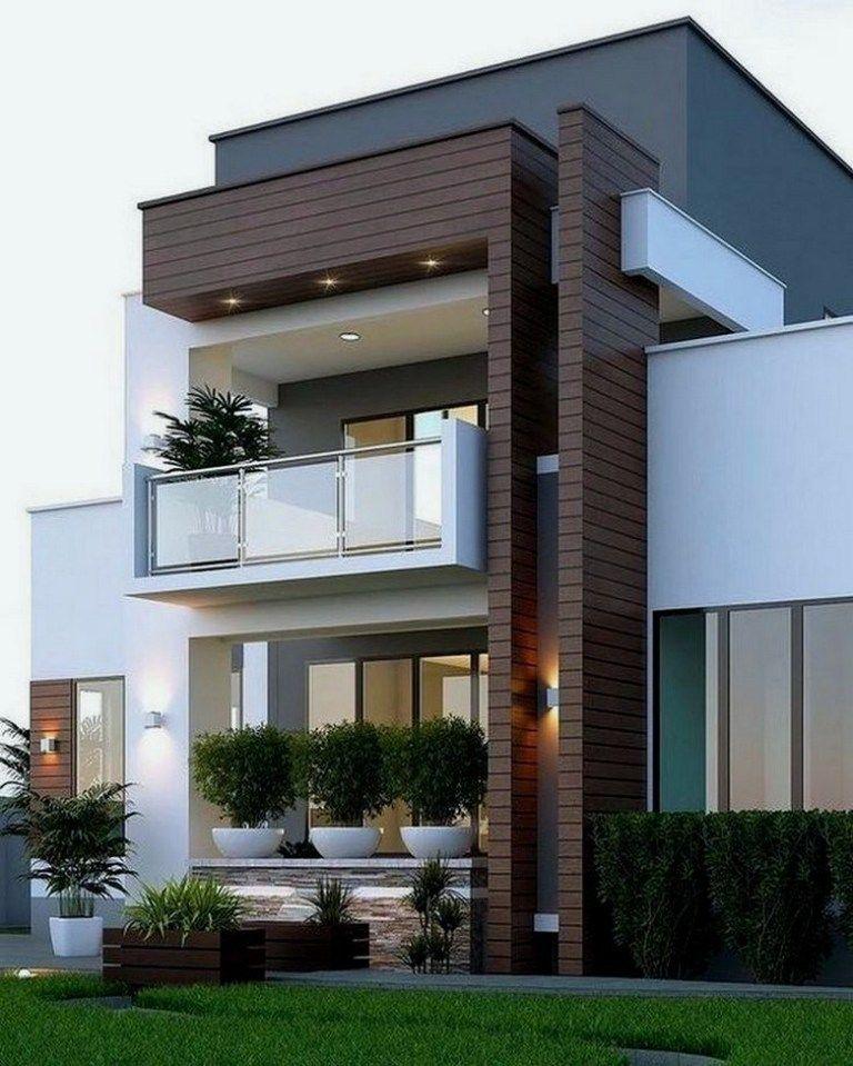 23 Stunning Modern Container House Design Ideas Dreamhome Dreamhomedesign Dreamhomeideas Whitney Facade House Duplex House Design Minimalist House Design