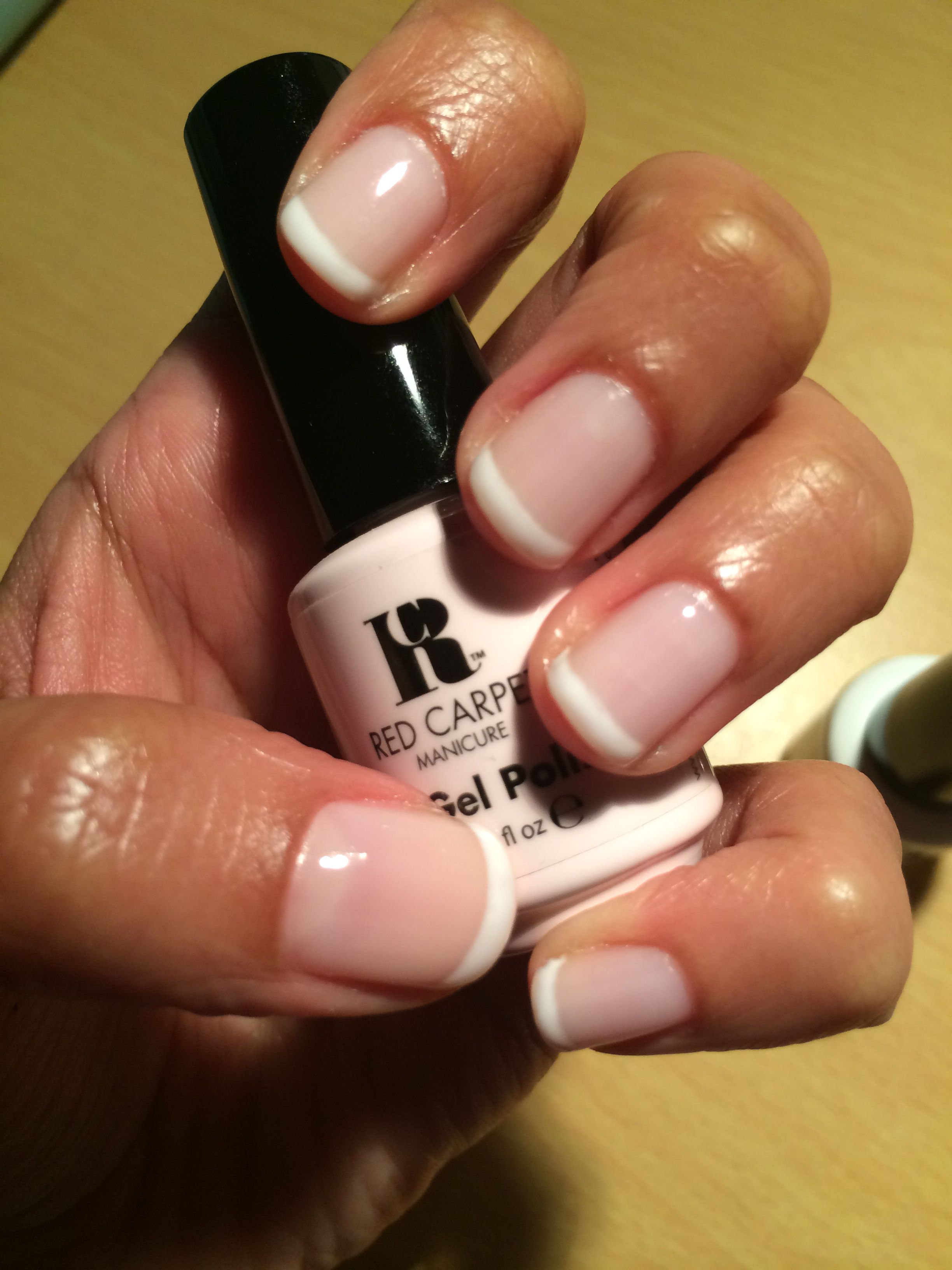 Red carpet french manicure white hot + candid moment | Gel Nails ...