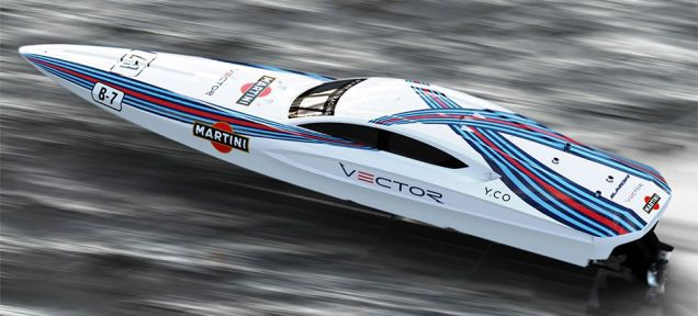 Behold This Absolutely Gorgeous Martini Racing Boat Martini