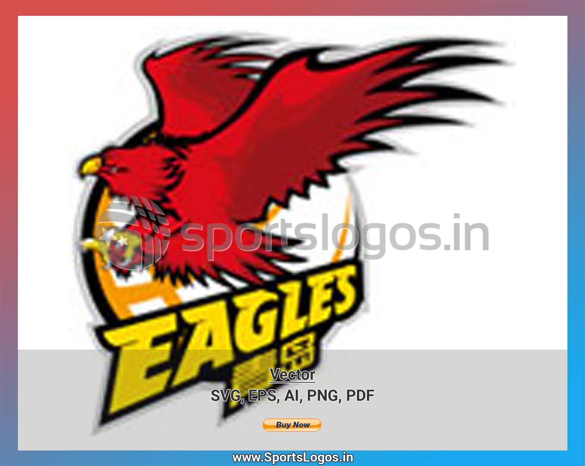 Qingdao Eagles Basketball Sports Vector SVG Logo in 5