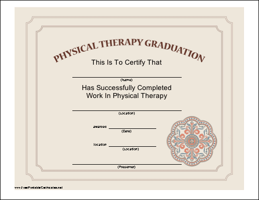 an attractive certificate certifying the completion of a physical, Human Body