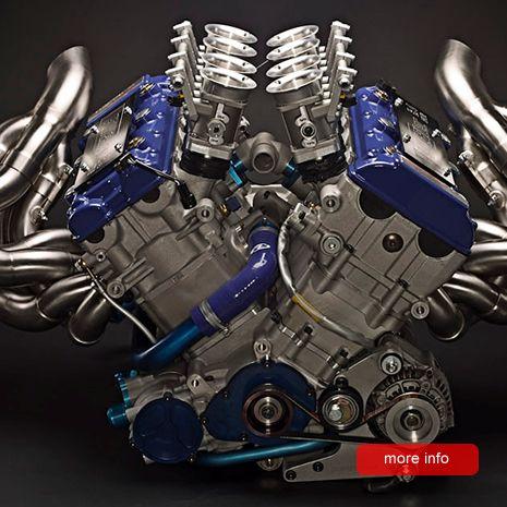 The RP-V8 Macroblock engine comprises Suzuki GSX-R Hayabusa cylinder