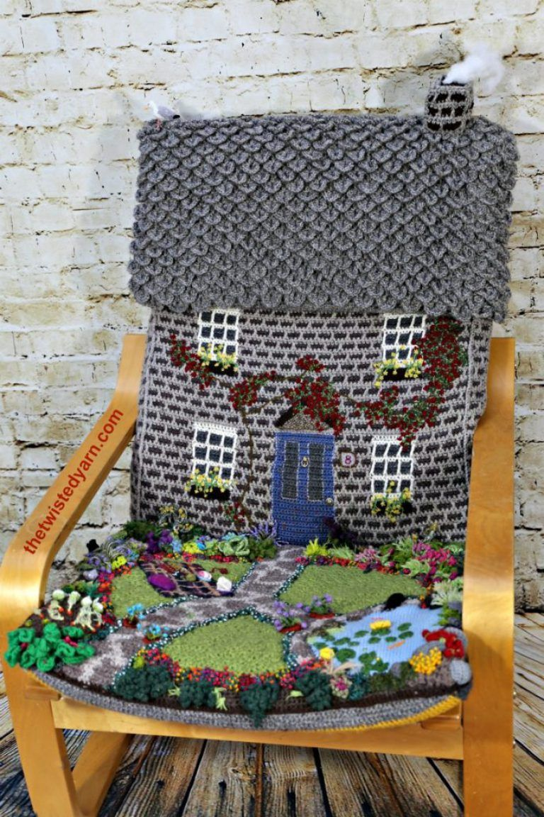 Crochet Mural Ikea Crochet Knitted Ikea Poang Chair Cover Cottage House Garden Just