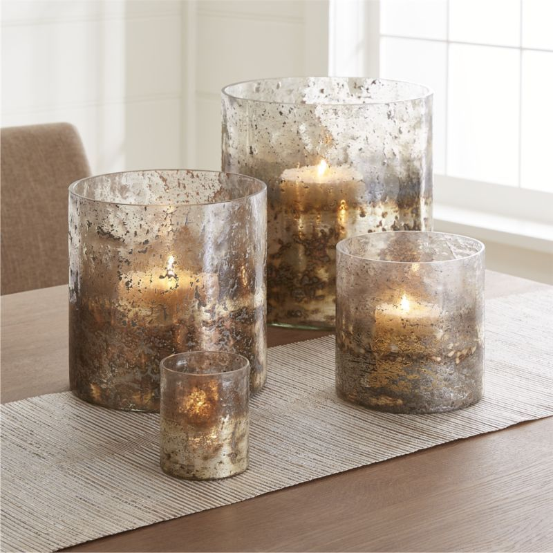 Sona Glass Hurricane Candle Holders Crate And Barrel Glass Hurricane Candle Holder Hurricane Candle Holders Candle Holders