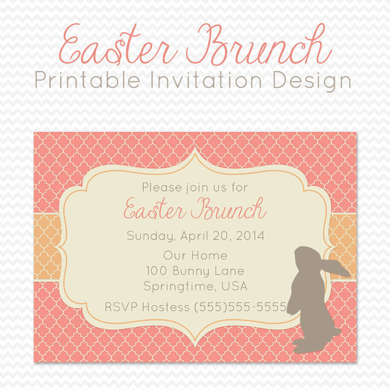 Easter party invitation dinner party invite spring party supplies easter party invitation dinner party by printcreatecelebrate stopboris Image collections