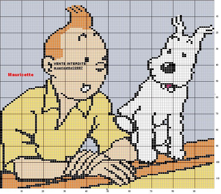 another chart   Charts   Pinterest   Punto de cruz patrones, Tintin ...