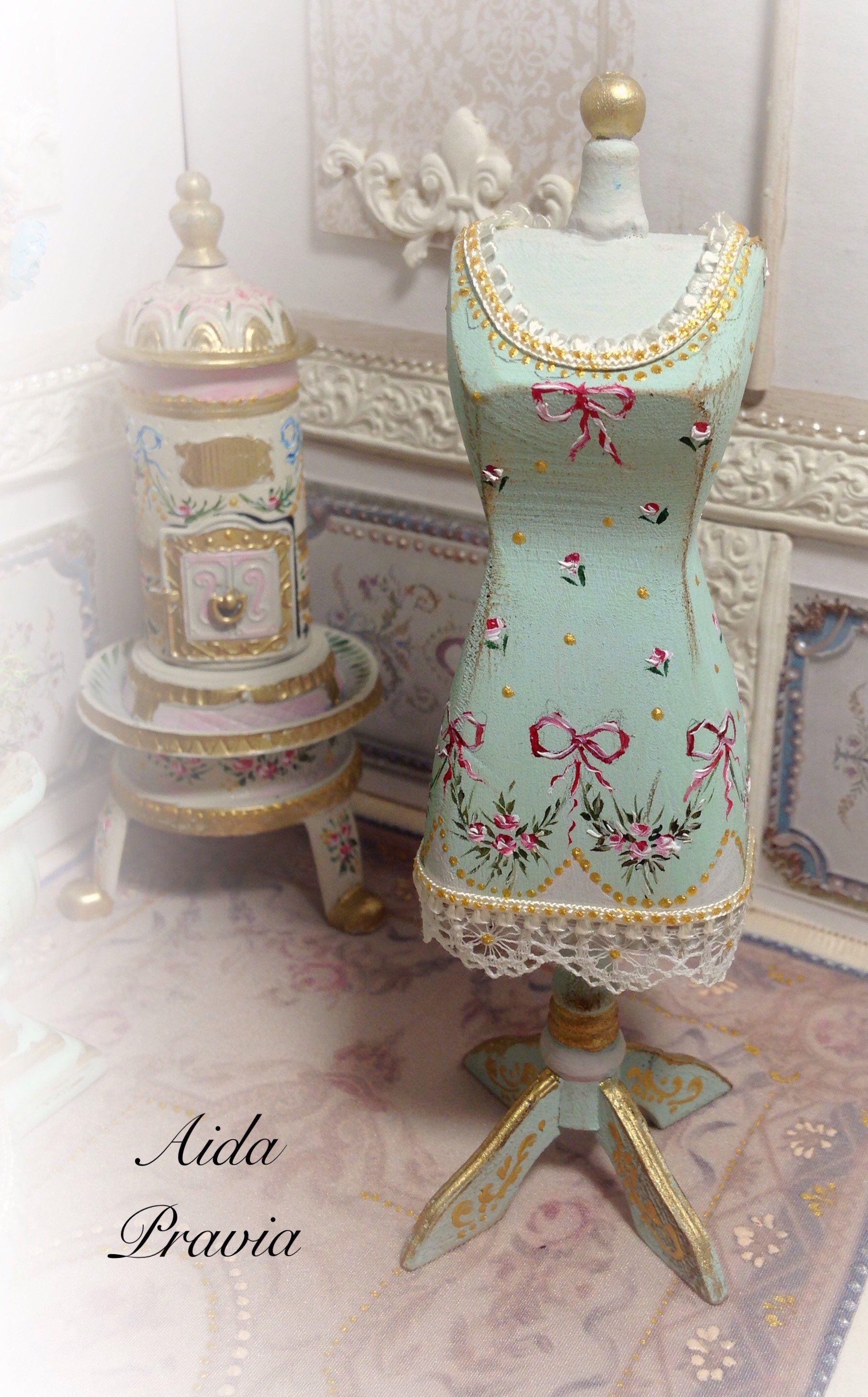 Casa De Muñecas En Miniatura Tienda Cuarto De Costura Maniquí Maniquíes Accesorio