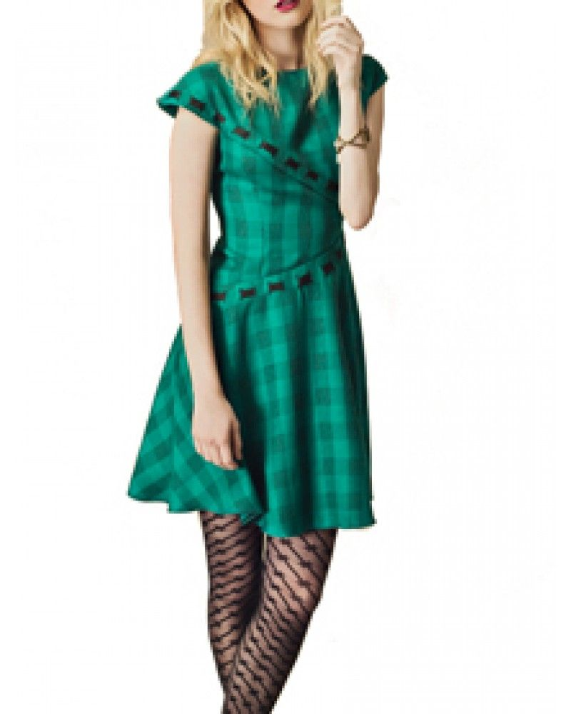 Eden Wool Plaid Dress