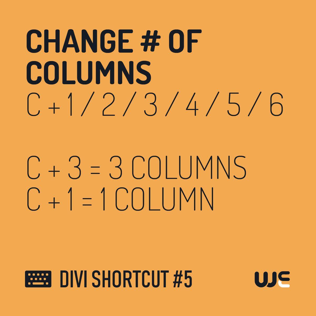 Divi Shortcut 5 In 2020 Column Layout Templates