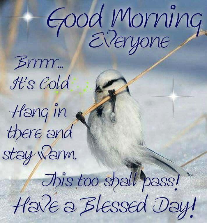 Good Morning Its Cold Outside Good Morning Quotes Good Morning
