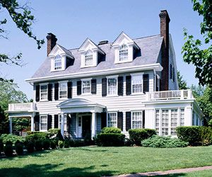 English colonial style house