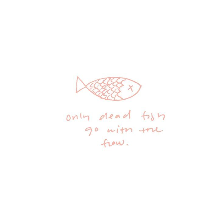 Only Dead Fish Go With The Flow Tag Frases Frases