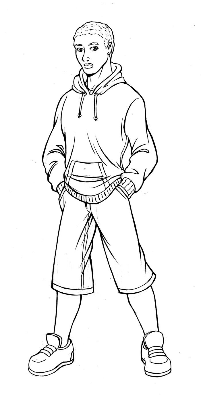 boy hair coloring pages - photo#47