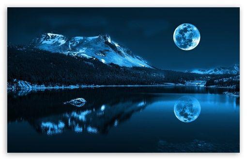 Download Moonlight Night Hd Wallpaper Pleine Lune Lune Bleue