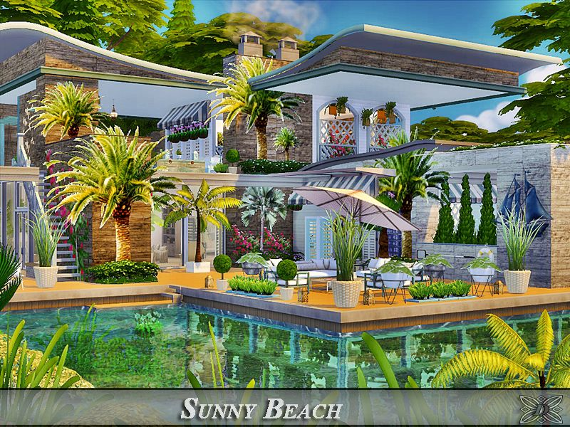 Luxury villa for your Sims. Found in TSR Category 'Sims 4