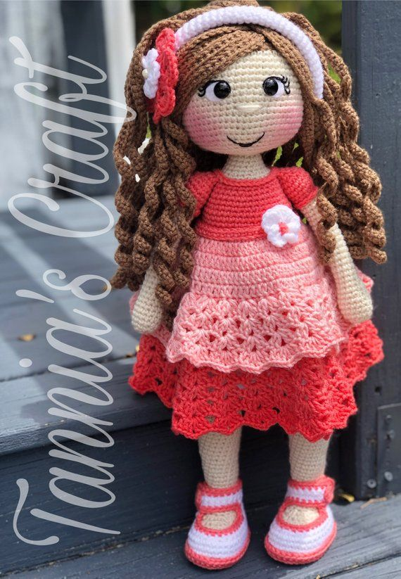 PATTERN Crochet Sarahi Doll PATTERN Crochet Doll Pattern Tannias Craft Available just English/Spanish
