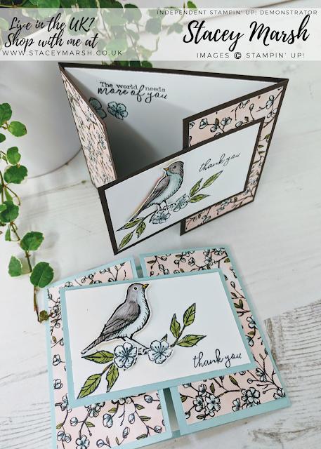 Stampin' Up! Bird Ballad DSP card #stampinupcards