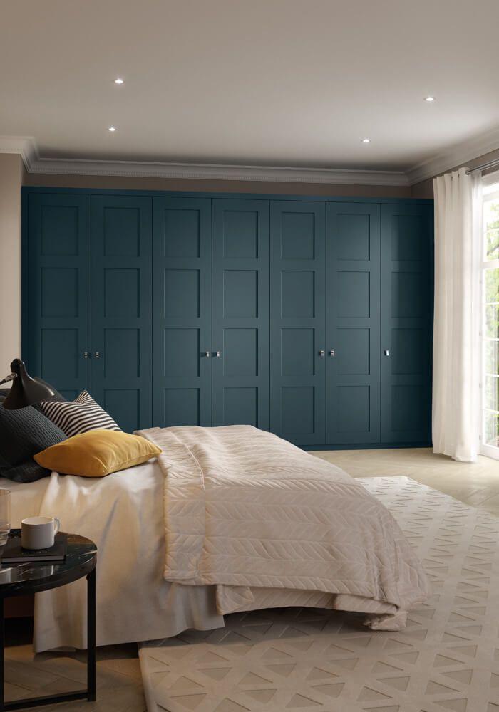 Blue Fitted Wardrobes | Shaker Bedroom Furniture | Neville Johnson