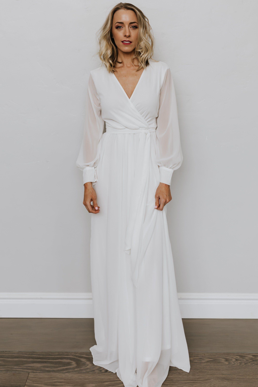 Lydia Off White Maxi Dress Long White Dress Maxi Dress Wedding Dress Long Sleeve [ 3000 x 2000 Pixel ]