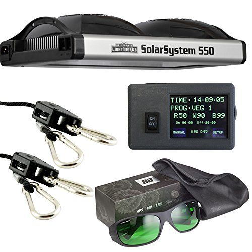 California Lightworks Solar System 550  Controller  Method Seven LED Glasses  Ratchet Ropes Grow Light Fixture 400w LED Commercial Lighting System -- For more information, visit image link.(This is an Amazon affiliate link and I receive a commission for the sales)