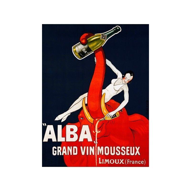 02c8228b70 Quadro Pubblicità Gran Vino Alba 1928 Stampa su Mdf o Tela Swarovski Arredo  Cas
