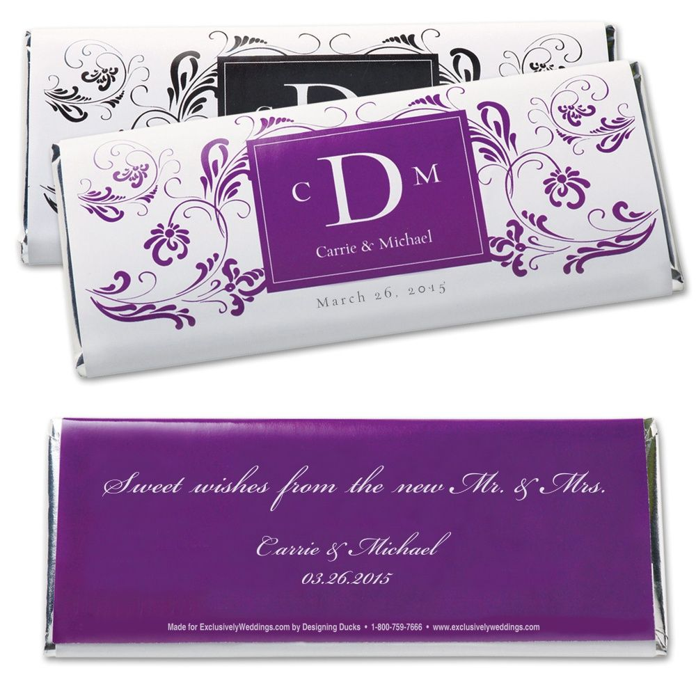 Hershey's® Extraordinary Love Personalized Large Chocolate Bar Favor | #exclusivelyweddings