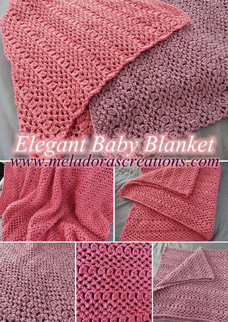 Elegant Baby Blanket – Free Crochet Pattern | Pinterest | Free ...