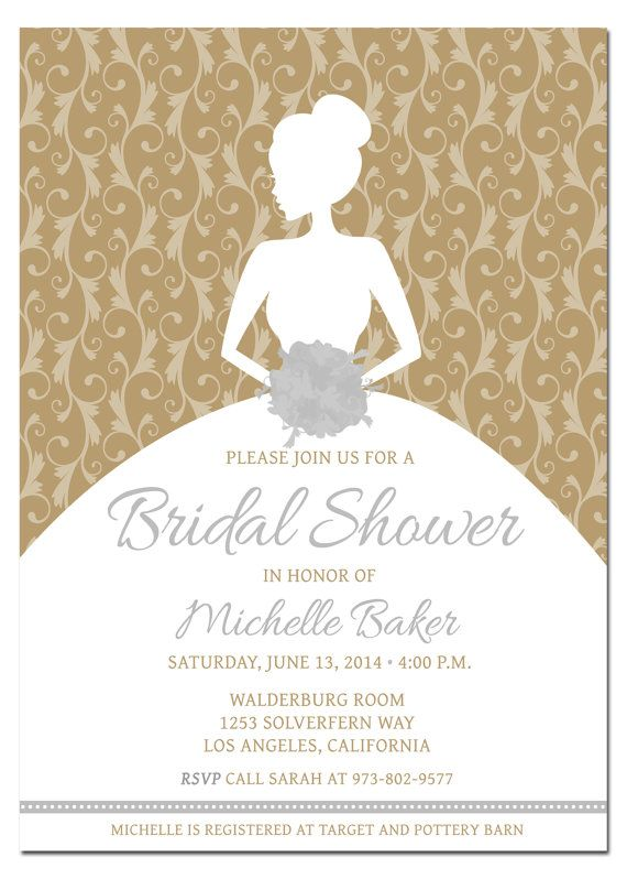 Printable Diy Bridal Shower Invitation Template With Photoshop