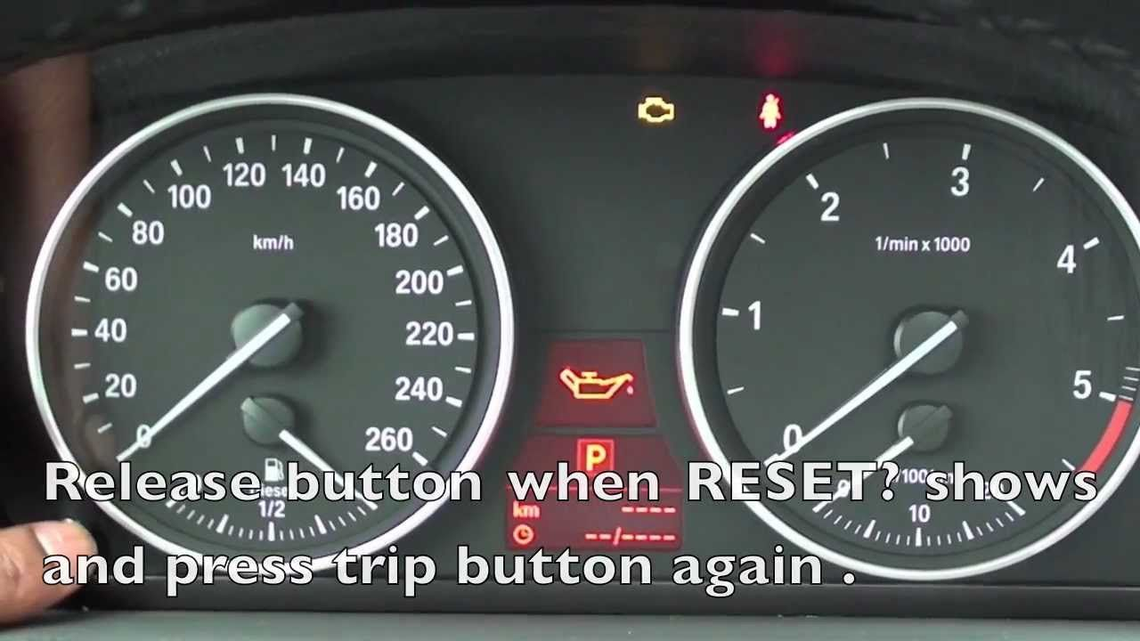 How to reset the 2006 2011 bmw maintenance light oil brake service