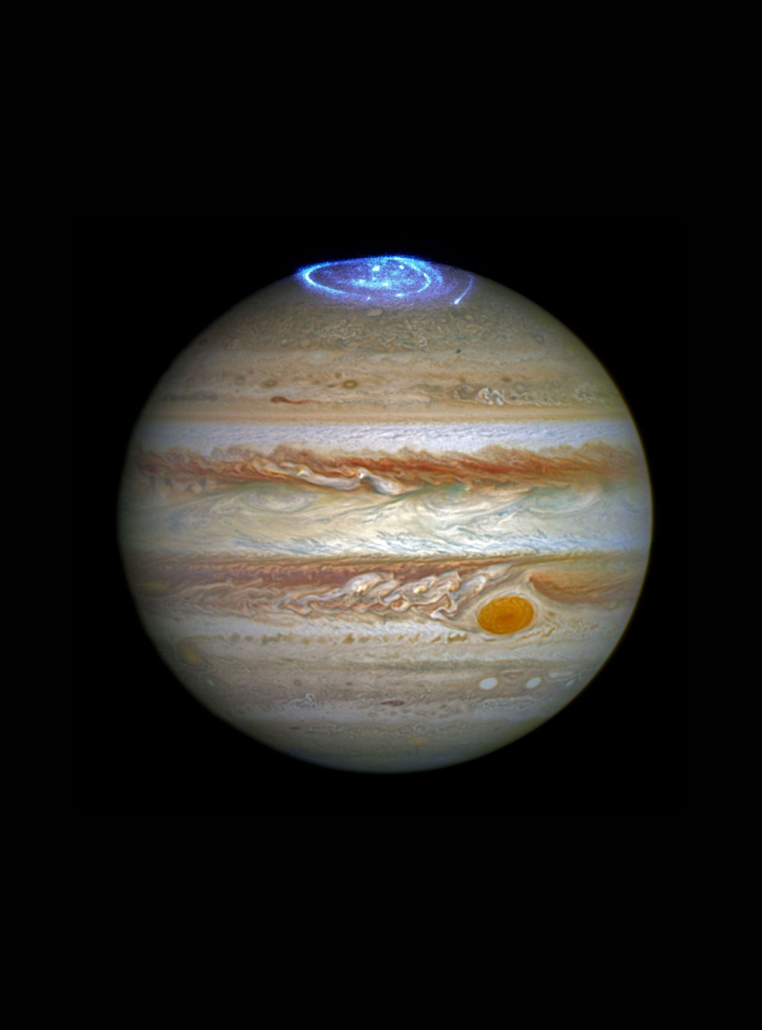 Check out what Jupiter's Northern Light's look like