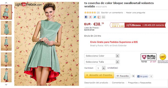 Venta online vestidos fiesta baratos
